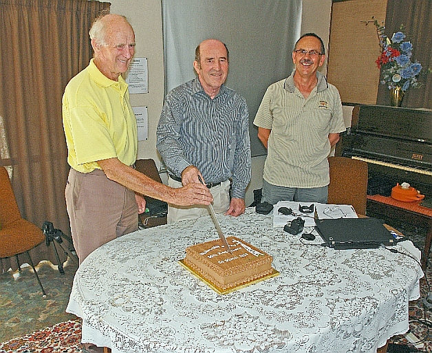 50th Anniv. cake cutting